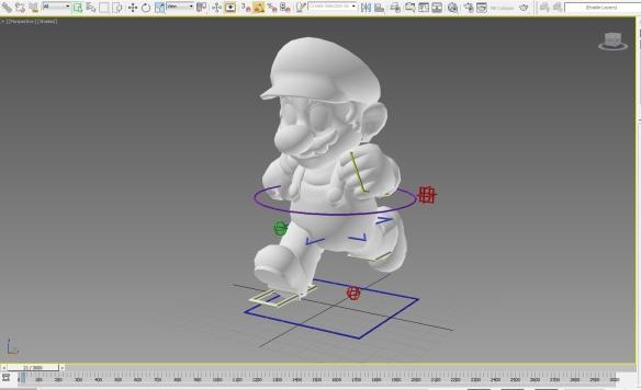 Super Mario, master hula-hooper