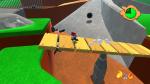 Mario crosses the tilting bridge